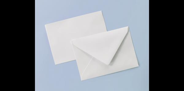 Umschlag weiß für A6-Karten