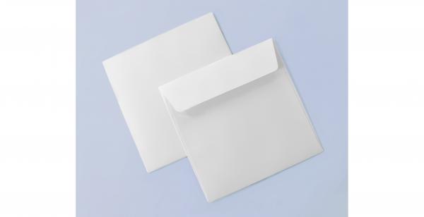 Umschlag weiß für quadratische Karten